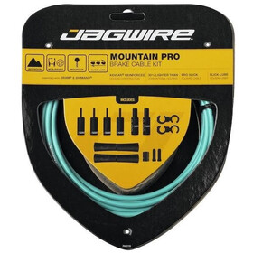 Jagwire Mountain Pro Brake Cable Kit, bianchi celeste